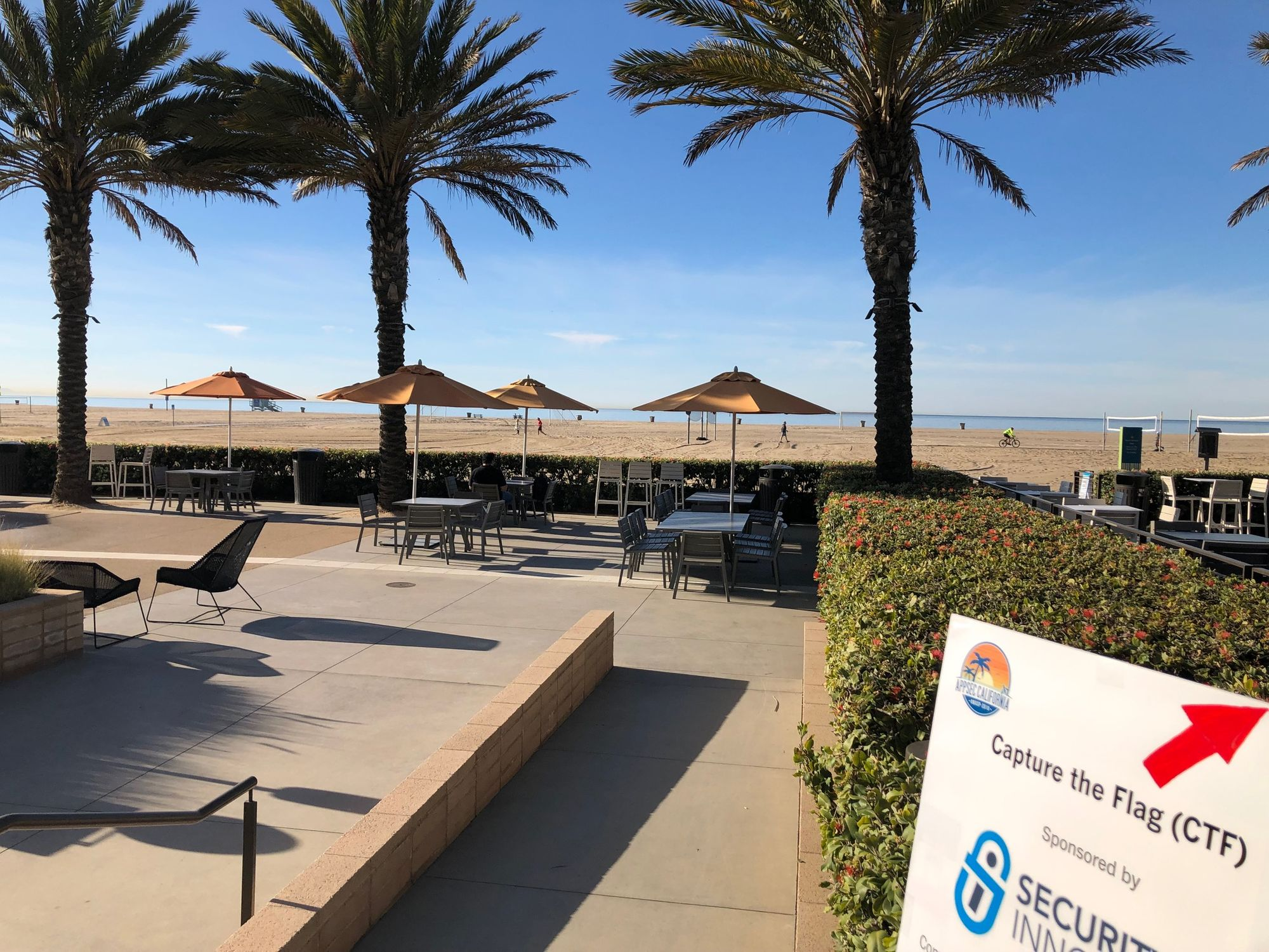 There is a patio to the side of the Annenberg Community Beach House where you can relax, eat, and see the scenic view. Did I mention the event also hosted a Capture the Flag event? Photo courtesy from Miguel A. Calles, MBA.