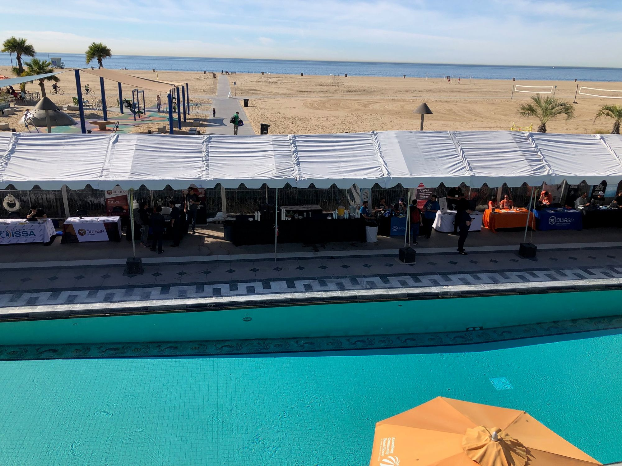 The Annenberg Community Beach House is a two-story building that has a beautiful view of the beach and the pool. Photo courtesy from Miguel A. Calles, MBA.