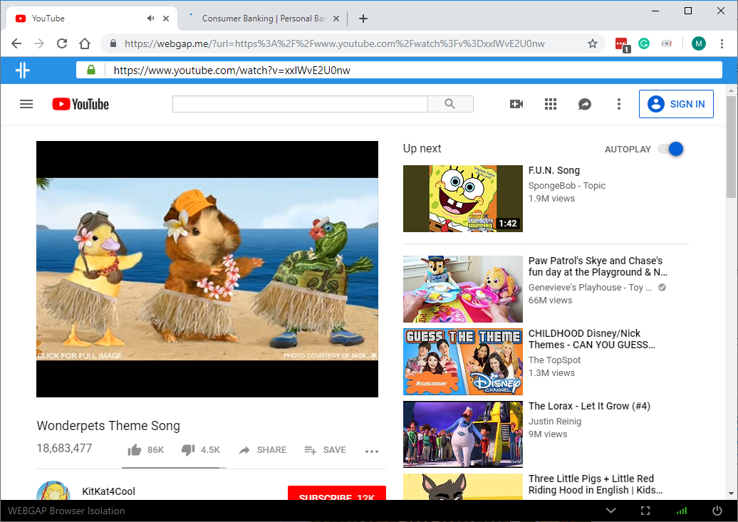 Watching YouTube in one tab and doing online banking in another tab.